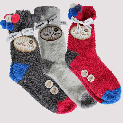 The original cuddly socks unies rouge talons bleus lesneven