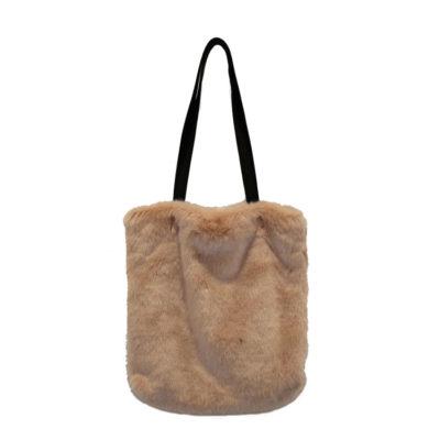 sac à main-fourrure-rosé-lesneven