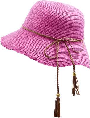 chapeau-fushia-pastunette beachwear-lesneven-brest-plabennec-finistere