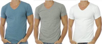 t shirt-hommes-col v-hopenlife-adn-style-lesneven