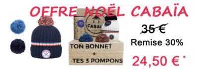Promo Cabaia bonnets cabaia lesneven remise 30% 24,50€