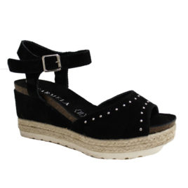 sandales-talons-compensés-noir-carmela-066790-adn-style-lesneven-1